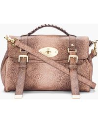 Mulberry Brown Leather Alexa Furry Printed Bag - Lyst
