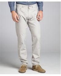 Scott James Steel Cotton Francis Flat Front Pants - Lyst