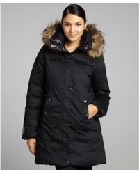 SOIA & KYO - Black Cotton Down Filled Jenna Reversible Coat - Lyst