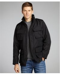 T-Tech By Tumi - Black Water Resistant M65 Four Pocket Coat - Lyst