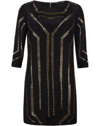 AllSaints Quake Dress black - Lyst