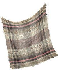 John Galliano - Signature Wool Blend Wrap - Lyst