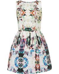 Topshop Camo Print Lantern Dress floral - Lyst