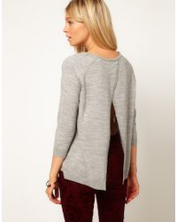 ASOS Collection Jumper with Pleat Back - Lyst