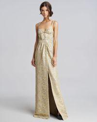 Burberry Prorsum Metallic Lace Keyhole Gown - Lyst