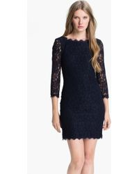 Diane von Furstenberg 'Zarita' Lace Sheath Dress - Lyst