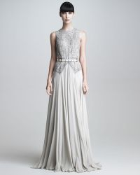 Elie Saab Beaded Bodice Gown - Lyst