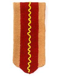 Jack Spade Hot Dog Scarf - Red