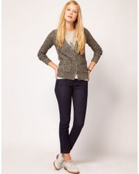 NW3 by Hobbs Nw3 Cardigan in Metallic Thread - Brown