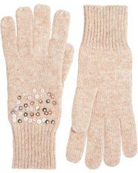 Oasis Scatter Sequin Gloves - Pink