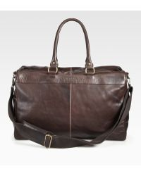 Robert Graham Oates Leather Weekender Bag - Brown