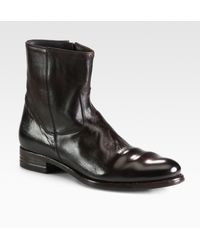 To Boot Shane Sidezip Leather Boot - Lyst