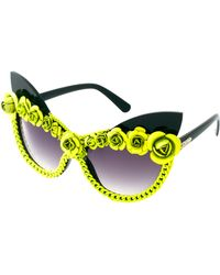 A-morir Amorir Bryson Floral Sunglasses - Yellow