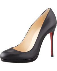 Christian Louboutin Filo Leather Red Sole Pump - Lyst