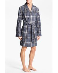 Burberry Gray Check Robe - Lyst