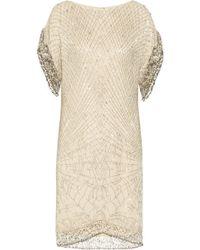 Matthew Williamson Swarovski Crystal Embellished Silk Chiffon Dress - Lyst