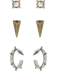 Topshop Stud Spike Earring Pack - Lyst