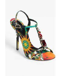 Dolce & Gabbana Tstrap Sandal - Lyst