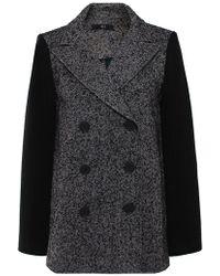 Tibi Bonded Tweed Pea Coat - Lyst