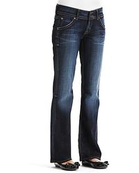 Ash Hudson Petite Signature Flap Pocket Bootcut Jeans in Elm Wash - Lyst