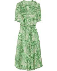 Collette by Collette Dinnigan | Printed Silk Dress | Lyst