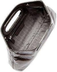 Michael Kors Berkley Metallic Pythonembossed Clutch