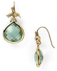 Juicy Couture Pretty Little Gem Faceted Teardrop Earrings - Green