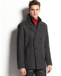 American Rag - Wool Blend Twill Coat - Lyst