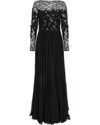 Elie Saab Lace and Georgette Gown - Lyst