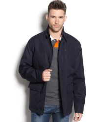 Lacoste Fall Weight Car Coat - Gray
