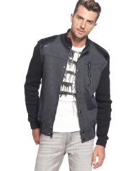 Wool Jacket with Sweater Sleeves - Black