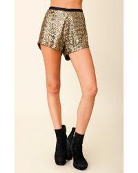 Stylestalker Goldfinger Sequin Short - Lyst