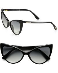 Tom Ford Anastacia Catseye Sunglasses black - Lyst