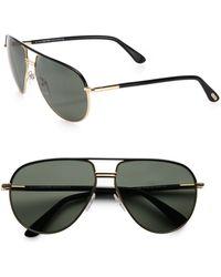 Tom Ford Cole Polarized Aviator Sunglasses - Lyst