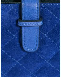 ASOS Suede Quilted Leather Ipad Case - Blue