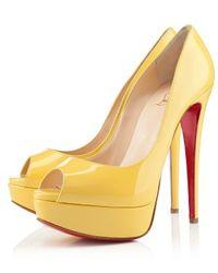 Christian Louboutin Lady Peep yellow - Lyst
