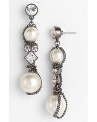 Givenchy Vanguard Linear Earrings white - Lyst