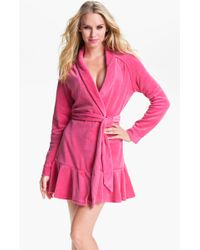 Juicy Couture Short Velour Robe - Lyst