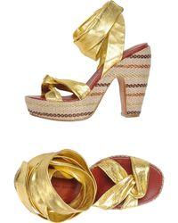 Marc By Marc Jacobs Platform Sandals - Metallic