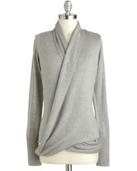 ModCloth Architects Message Cardigan in Fog - Lyst