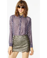 Nasty Gal Dotted Stud Blouse - Lyst