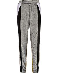 3.1 Phillip Lim Sequined Silk Track Pants - Lyst