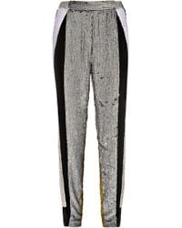 3.1 Phillip Lim Sequined Silk Track Pants gray - Lyst