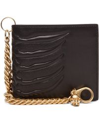 Alexander McQueen Ribcage Chain Wallet in Black - Lyst