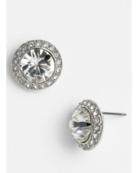 Givenchy Stud Earrings - Clear Crystal/ Silver - Lyst