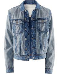 H&M Denim Jacket blue - Lyst