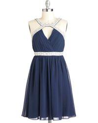 ModCloth Celestial Shimmer Dress blue - Lyst