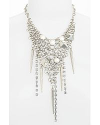 Cara Accessories Grommet Crystal Bib Necklace - Lyst