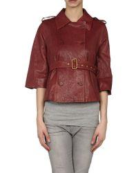 Diane von Furstenberg Leather Outerwear - Lyst