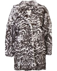 Kenzo Oversize Fur Coat - Lyst